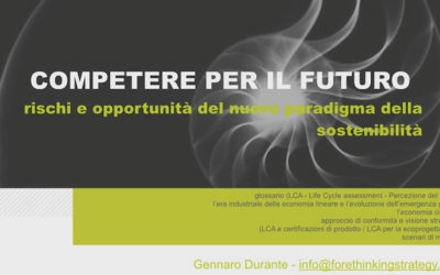 """""""Competing for the future"""" design at the time of sustainability 